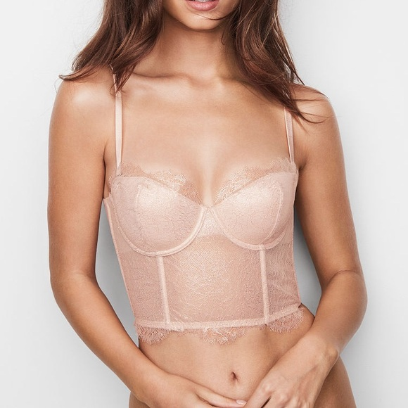 a08a2955c10 Dream Angels Chantilly Lace Mini Bustier. NWT. Victoria s Secret